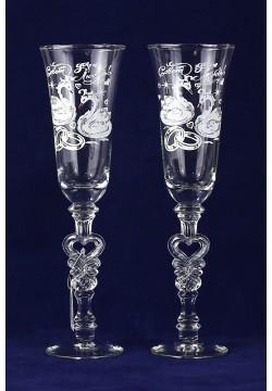Фужеры для шампанского Свадебные (прозрачные)