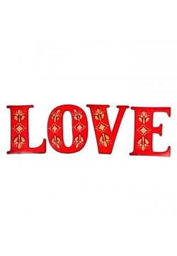 """Буквы для фото """"LOVE"""" (красный) 15*19см (картон)"""
