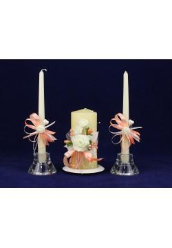 Комплект свадебный №67-2 персиковый