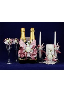 Комплект свадебный №67-2 пепельно-розовый
