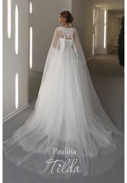 Свадебное платье Паулина с накидкой