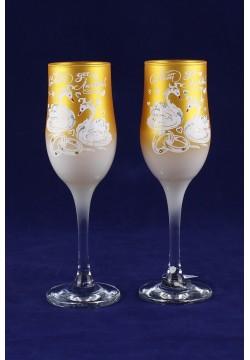 Фужеры для шампанского Tulip Свадебные (золото)