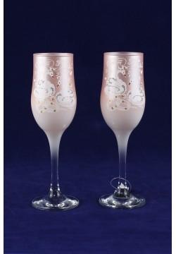 Фужеры для шампанского Tulip Свадебные (пудра)