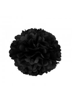 Помпон бумажный 20см чёрный