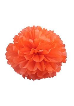 Помпон бумажный 25см оранжевый