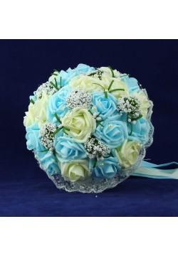 Букет-дублёр Розы латекс 3, (айв-голубой)