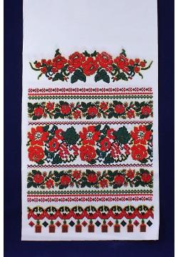 Рушник габардин Орнамент/розы №110