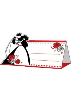 Банкетная карточка 5*9,5см Поцелуй (без отделки)