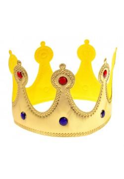 Корона королевская золототая со стразами (мягкая)