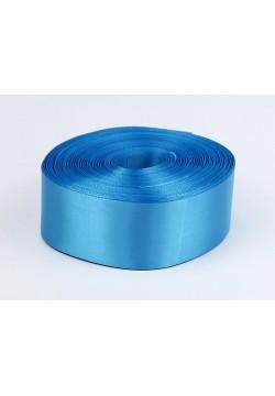 Лента метражом Креп-сатин 5см (голубая яркая)