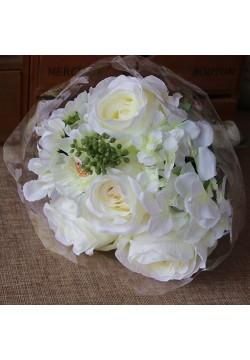 Букет-дублёр Розы и гортензия (белый)