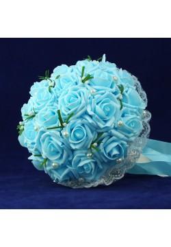 Букет-дублёр Розы латекс 1, (голубой)