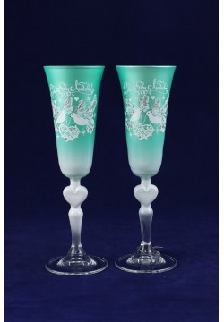 Фужеры для шампанского Свадебные (тиффани)
