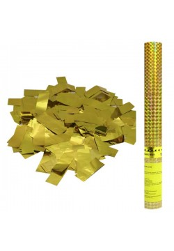 Пневмохлопушка 60см (золотое конфетти)