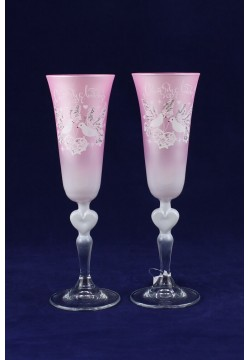 Фужеры для шампанского Свадебные (пудра)