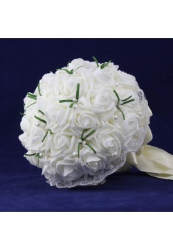 Букет-дублёр Розы латекс 1, (белый)