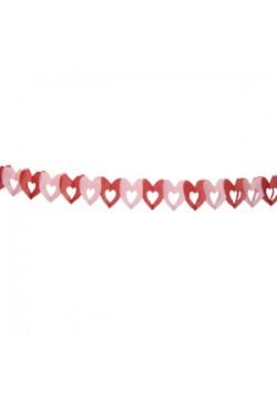 "Гирлянда ""Сердечки"" розово-малиновая 6*6см 4м"