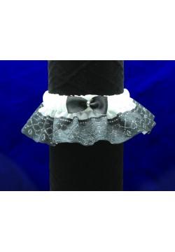 Подвязка Кружевная (чёрно-белая)