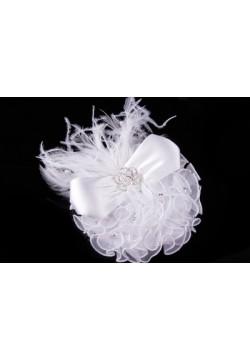 Шляпка (зажим , жемчуг, стразы, перья)
