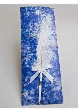 Ручка с пером (белая)