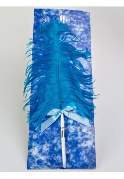 Ручка с пером (голубая)