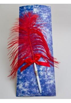 Ручка с пером (красная)
