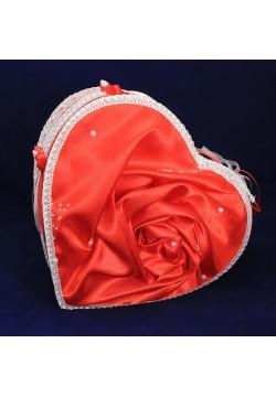 Сундук для денег «Сердце» красный