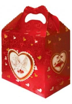 Денежный сундук Свадебный (красный)