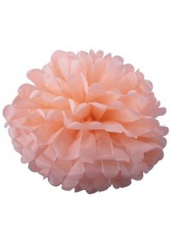 Помпон бумажный 35см розовый светлый