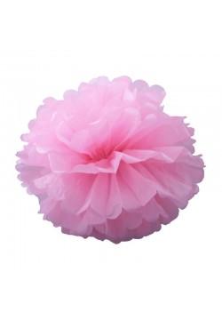Помпон бумажный 25см розовый