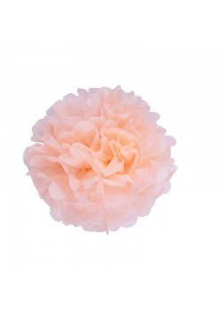 Помпон бумажный 20см розовый светлый