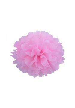 Помпон бумажный 15см розовый