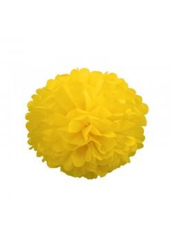Помпон бумажный 15см жёлтый