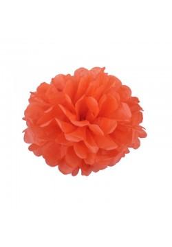 Помпон бумажный 15см оранжевый