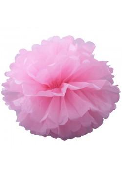 Помпон бумажный 35см розовый