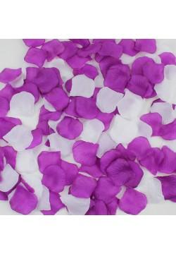 Лепестки роз (150шт) фиолетовые + белые