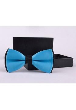 Галстук-бабочка (голубой с чёрным) 12*6см