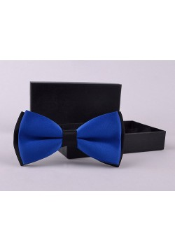 Галстук-бабочка (синий с чёрным) 12*6см