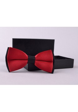 Галстук-бабочка (бордовый с чёрным) 12*6см