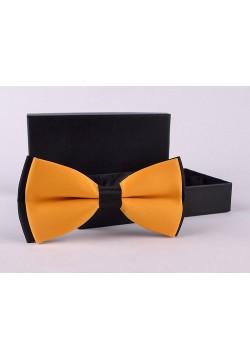 Галстук-бабочка (жёлто-чёрный) 12*6см
