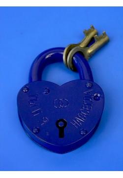 Замок Сердце большой (синий) 10*7,5см