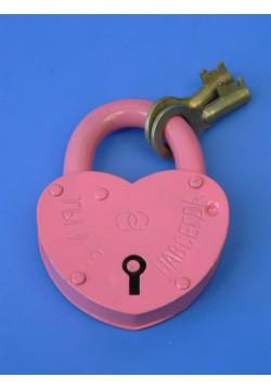 Замок Сердце большой (розовый) 10*7,5см