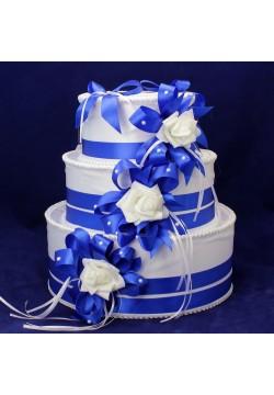 Сундук для денег «Торт» (бело-синий)