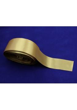 Лента Креп-сатин 5см (золотой)