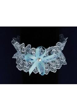 Подвязка Кружевная (голубой)