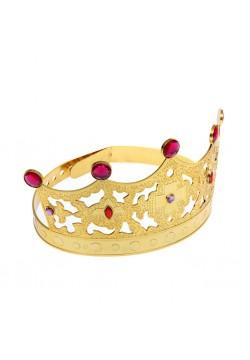 Корона королевская золотая (пластик) 63*12см