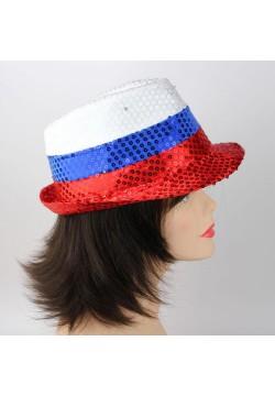 Шляпа Стиляги/Федора светящаяся (триколор)