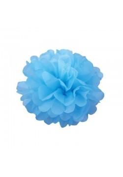 Помпон бумажный 15см голубой