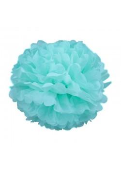 Помпон бумажный 25см голубой светлый