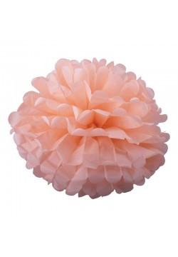 Помпон бумажный 30см розовый светлый